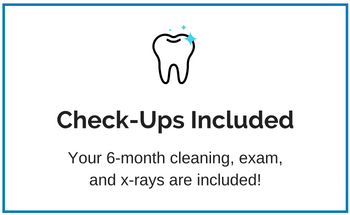 Discount Dental Plan includes 6-month cleanings, exams and x-rays.